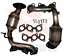 Catalytic Converter for Toyota Sienna 2004 to 2006 fits Front and Rear Set