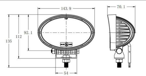 2x Arbeitsscheinwerfer Nahfeld 10-30 V E9 24W Traktor Bager Gabelstapler Offroad