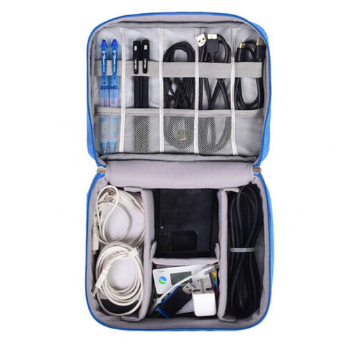 Electronics Accessories Organizer Travel Storage Hand Bag Cable USB Drive CaseFB
