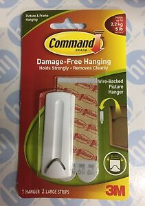 3m Command Wire Backed Picture Hanger Damage Free Hook Hold