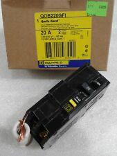 BRAND NEW QOB220GFI CIRCUIT BREAKER 20 AMP 240 VOLT SQUARE D