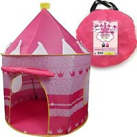 Children Play Tent Girls Pink Castle For Indoor/outdoor Use Foldable With Car...