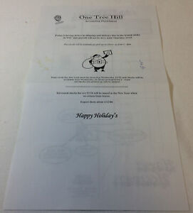 ONE-TREE-HILL-set-used-2005-ACCOUNTING-DEPARTMENT-memo