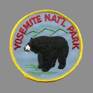 Black Bear Iron on Vintage Yosemite National Park Patch