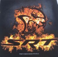 Black Srt Flame Hellcat Dodge Mopar Hemi T-shirt Charger Challenger Logo Emblem