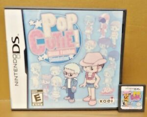PoP-Cutie-Street-Fashion-Sim-Nintendo-DS-DS-Lite-3DS-2DS-Game-Tested-Works