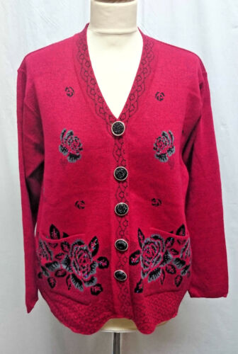 Ladies Cardigans 5 Colours Buttoned with Pockets Senior Style