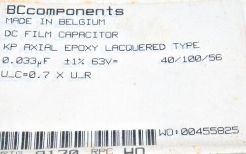 PHILIPS KP 0.033uF 2pcs-BC 33nF 63V 1/% Polypropylene Capacitor-222246043303