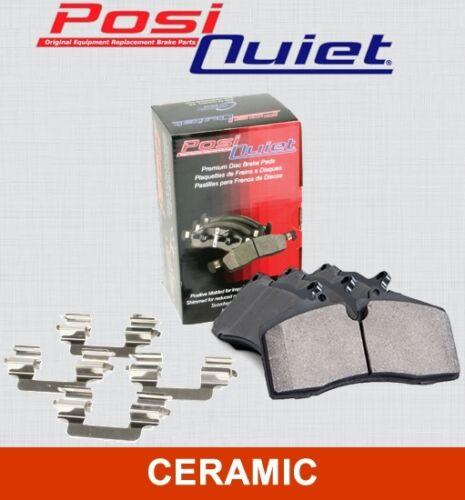 REAR SET Posi Quiet Ceramic Brake Disc Pads LOW DUST 105.12120 + Hardware Kit