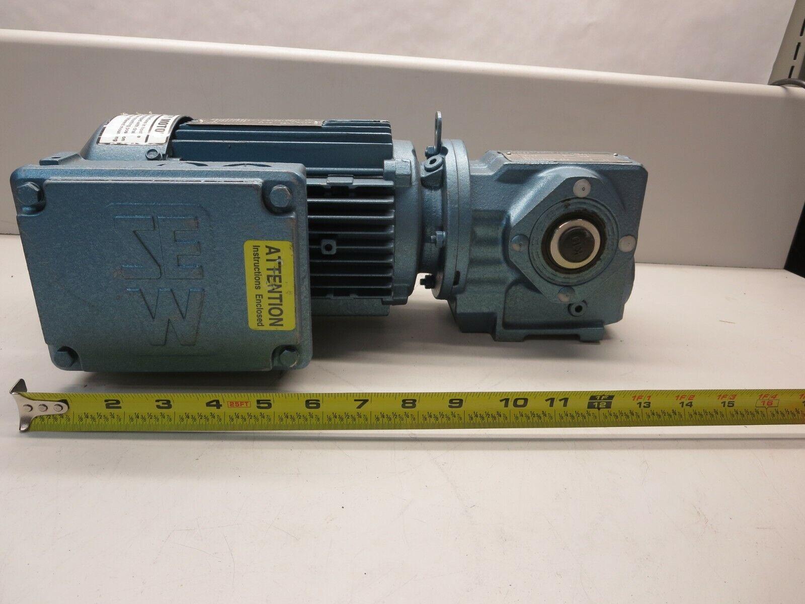 SEW-EURODRIVE, DFT80K4-KS With SA37DT80K4-KS, Motor & Reducer, 3 PH, 230 460VAC