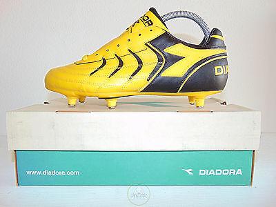 Vintage 80 90 Diadora Dual MD PU 40 Soccer Shoes 6 Soccer
