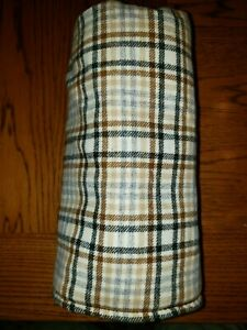Pendleton-Wool-Tartan-Plaid-Barrel-Cylinder-Style-Beige-Tan-Brown-Gray-Blk