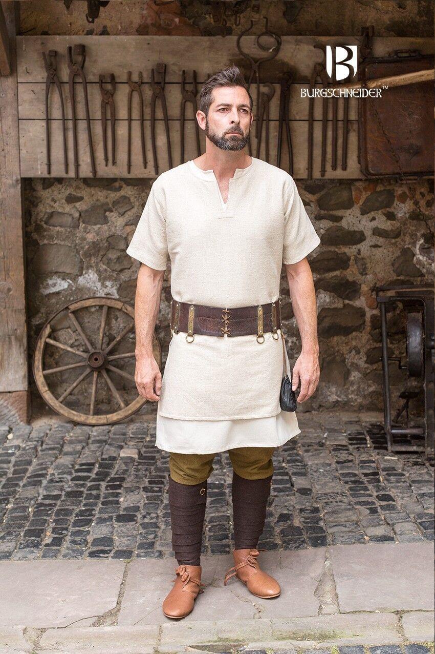 Medieval Tunic short Sleeve Viking /Larp - Hemp From Burgschneider