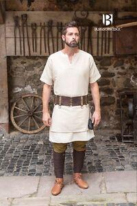 Moyen-age-Tunique-a-Manches-Courtes-Viking-Larp-Chanvre-de-Burgschneider