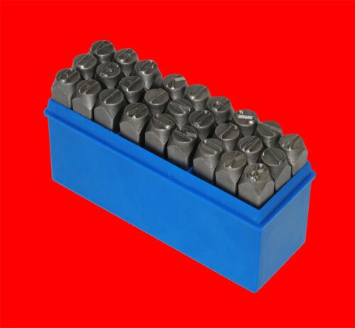 8mm Schlagstempel Schlagzahlen A-Z Qualitäts Schlagbuchstaben Satz Gr 27 tlg