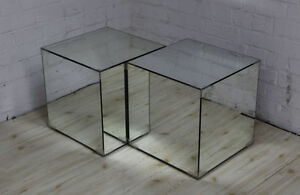 Pair-of-Mirrored-Glass-Cube-Tables-Mirror-Box