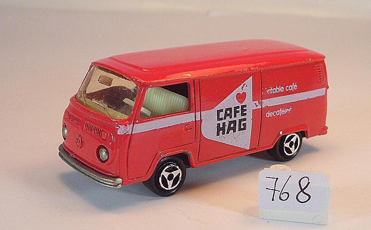 Majorette 1 60 Nr. 244 VW Volkswagen T2 Fourgon Kasten red Cafe Hag Nr. 3