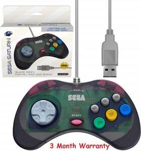 Details about Retro-Bit Official Sega Saturn USB Controller Pad Model 2 USB  Port Slate Grey