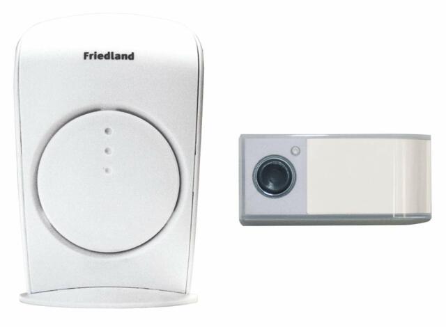 Friedland Warbler D454.Honeywell Friedland Evo 150m Wireless Portable White Doorbell Kit D3001