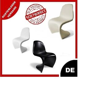 stuhl plastik panther s form retro esszimmer wohnzimmer ebay. Black Bedroom Furniture Sets. Home Design Ideas