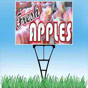 "18/""x24/"" FRESH STRAWBERRIES Outdoor Yard Sign /& Stake Sidewalk Lawn Fruit Market"