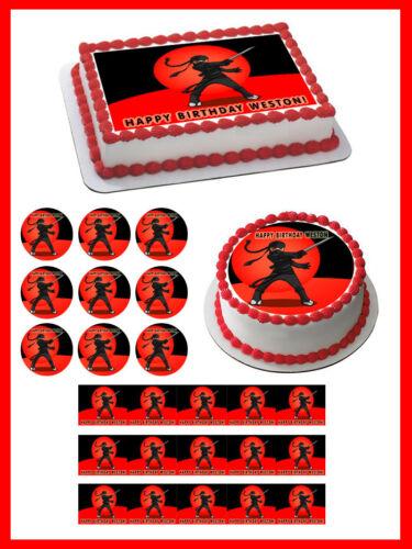 Ninja Edible Cake Topper OR Cupcake Topper Decor