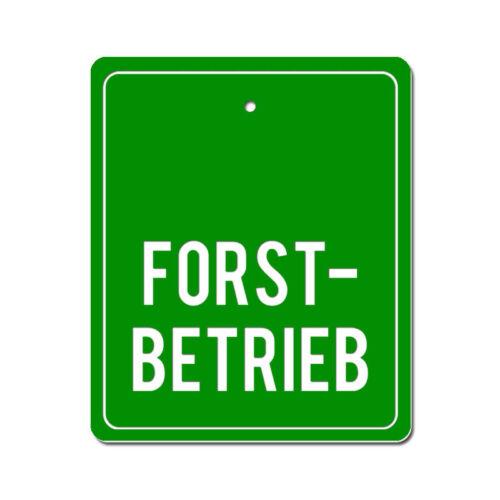 auch mit Sauger für Auto,KFZ FORSTBETRIEB Graviertes Schild für Forst,Förster