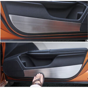 4x For Honda Civic 2016-2018 Side Edge Protection Pad Anti-kick Door Mats Cover