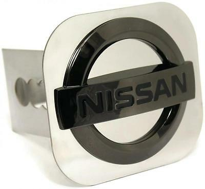 "Nissan Black Pearl Trailer 2"" Hitch Plug Cover Cap Stainless Steel"
