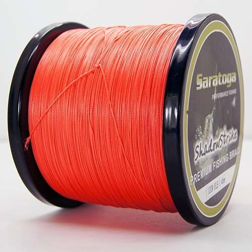 Top 8 Strands 1000M Orange Line Power PE Line Orange Dyneema Saratoga Braided Fishing Line 40cd7a