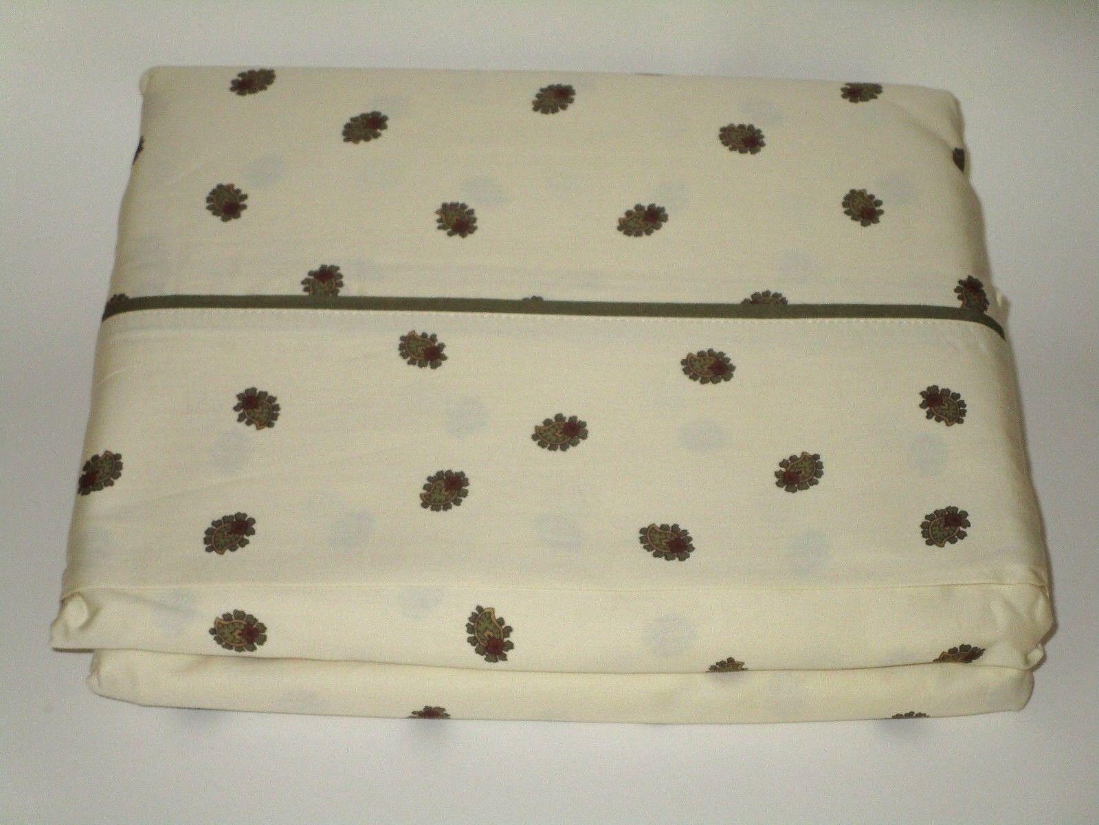 Chaps Ralph Lauren 100% Cotton 300TC Sateen FULL Flat Sheet Multi NEW