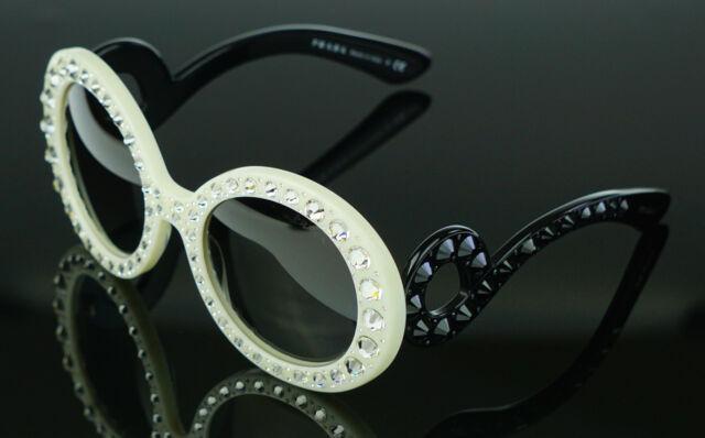 e8acfa862091 ... reduced rare new genuine prada ornate ivory black baroque crystal  sunglasses spr 31p pr aa4a3 23e90