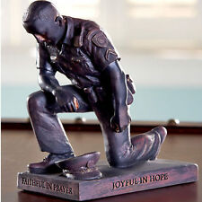 Policeman Gifts Police Officer Statue Praying Man Sculpture Thank You Unique Him
