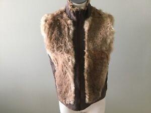 NWT bebe black brown leopard faux fur zipper front top coat jacket S Small