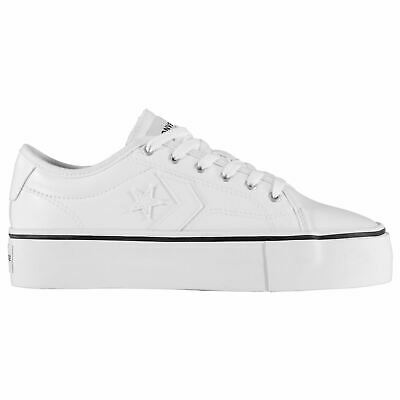 converse replay platform trainers womens shoes white