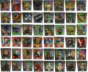 Auswahl-Glitzer-Karten-1-48-Holo-Star-Wars-Sammelkarten-Kaufland-Sticker-Album