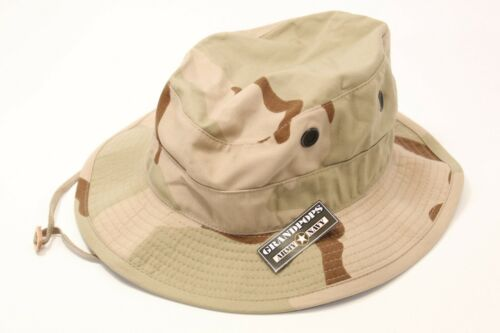 3 COLOR DESERT CAMO JUNGLE HAT RIPSTOP MADE IN USA