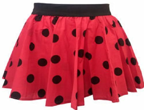 Girls Kids Polka Dot RockNRoll Poodle Skirt 1950/'s//1960/'s Style 5-10 Years