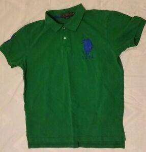 US-Polo-Assn-USPA-Mens-Large-Embroidered-Green-Polo-Shirt-Big-Pony-Logo-3