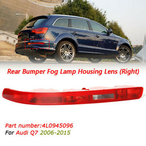 Right 4L0945096A For Audi Q7 06-15 Rear Bumper Taillight Reflector Red Lens