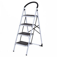 N 4 Steps Ladder Folding Stool Heavy Duty Stepping Light 330lbs Weight Capacity