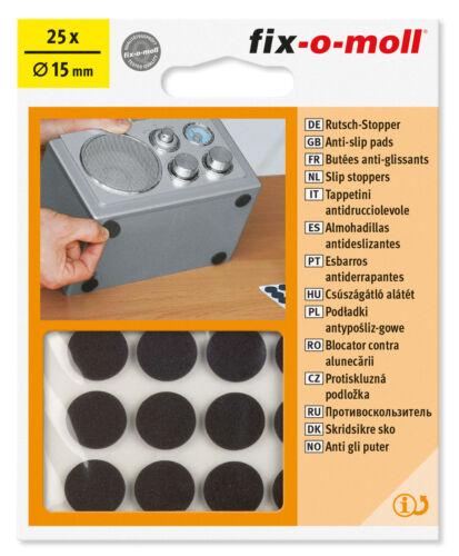 fix-o-moll Anti-Rutsch-Pads sk schwarz Ø 15mm 5808