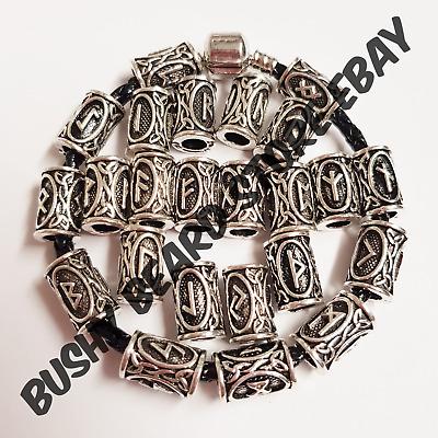 Spacer Bracelet Bead Set of 5 Dread Beads Silver Dread Bead Spacer Bead Viking Norse Beard Bead Dread Bead Loc Accessory Dreadlock Bracelet