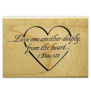 Image Is Loading Love One Another Deeply Mounted Rubber Stamp Valentine