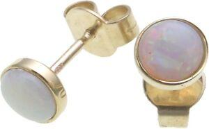 Ohrringe-echt-Opal-Gold-585-Stecker-Ohrstecker-Damen-Gelbgold