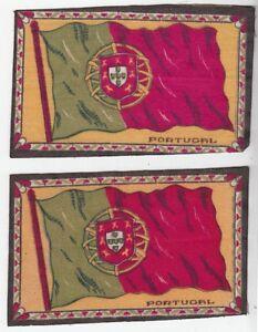 42939-SET-OF-2-TOBACCO-FELTS-FLAG-OF-PORTUGAL