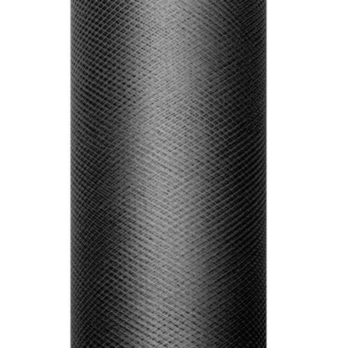 """Dekoband /""""Tüll/"""" 8 cm x 20 m schwarz Geschenkbänder Schleifenband Gastgeschenke"""