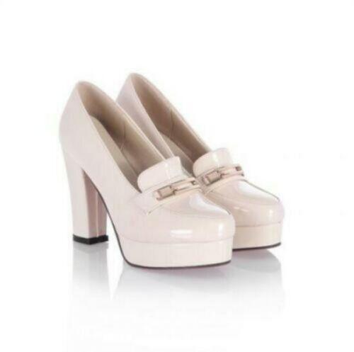 Pour Femme Doux talon bottier Lolita Mary Janes Plateforme Escarpins Chaussures a nous Taille