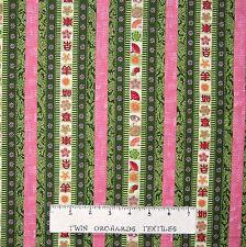 Floral Fabric - Mei Fong Green & Pink Stripe - Lyndhurst OOP YARD
