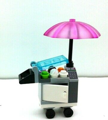 LEGO Custom park City Square Pizza /& cold water Ice Cream Stand on wheels